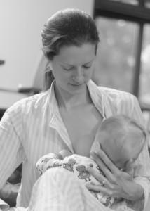 Stacy breastfeeding